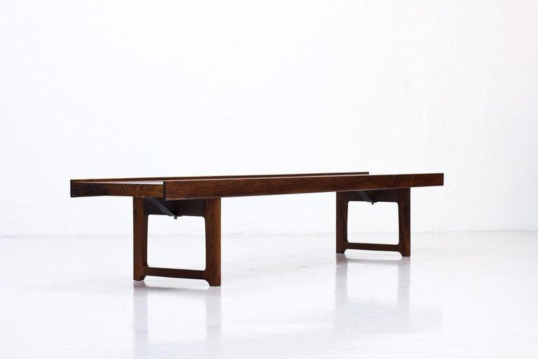 """Torbjørn Afdal Rosewood """"Krobo"""" Bench, Norway, 1960s In Good Condition For Sale In Stockholm, SE"""