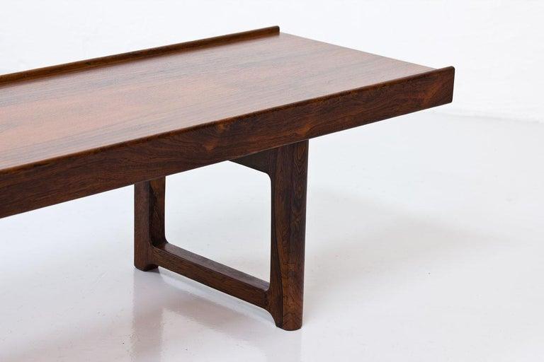 """Torbjørn Afdal Rosewood """"Krobo"""" Bench, Norway, 1960s For Sale 3"""