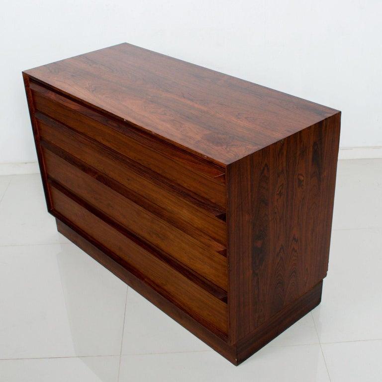Scandinavian Modern Torbjørn Afdal Scandinavian Rosewood Dresser by Bruskbo Modell, Norway For Sale