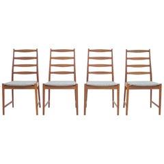 Torbjørn Afdal Teak Dining Chairs by Vamo, Denmark, 1960s