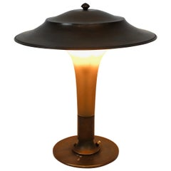 Torch Lamp with Stem of Amber Colored Glass, by Fog & Mørup, 1930s
