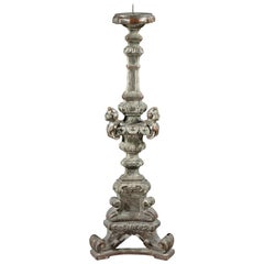 Torchere, 17th Century, Italian, Silvered, Floor-Standing