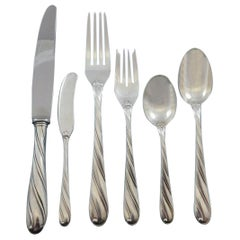 Torchon by Buccellati Italy Sterling Silver Dinner Flatware Set Service 36 Pcs