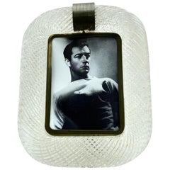 'Torciglione' Murano Glass Photo Frame Attributed to Venini