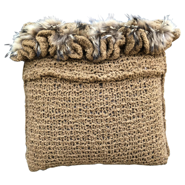 """Torino"" Merino Wool Pillow by Le Lampade"