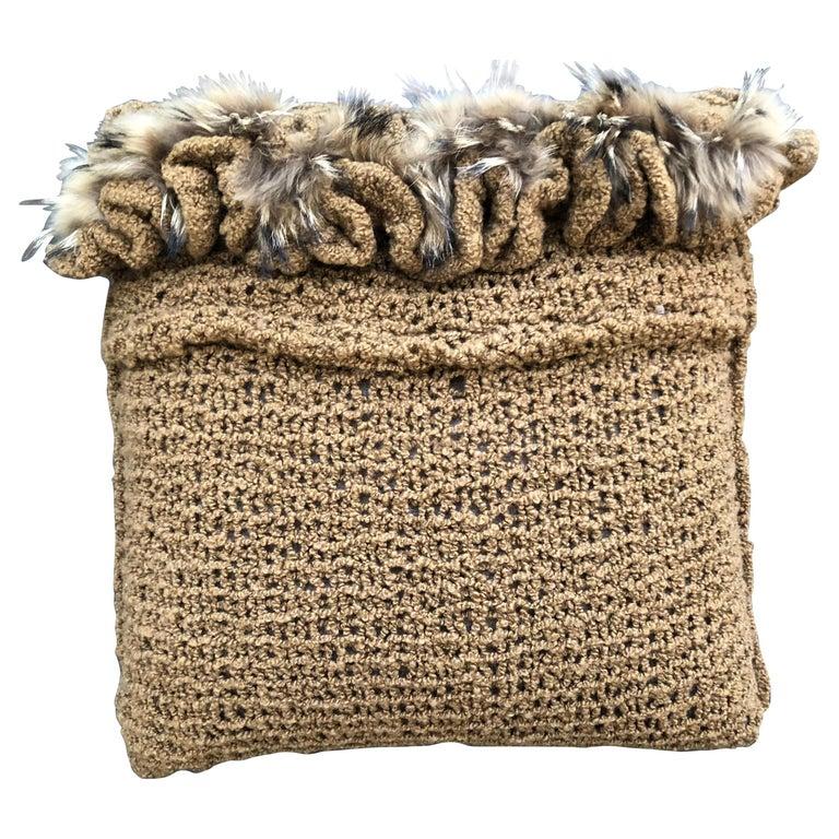 """Torino"" Merino Wool Pillow  For Sale"