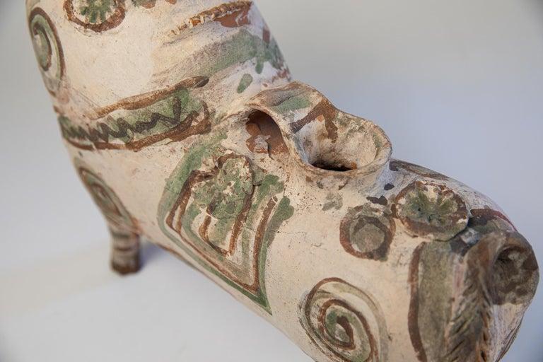 Torito de Pucara Antique Painted Terra Cotta Pottery Peruvian Bull Sculpture For Sale 8