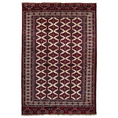 Torkaman, Hand-Knotted Area Rug