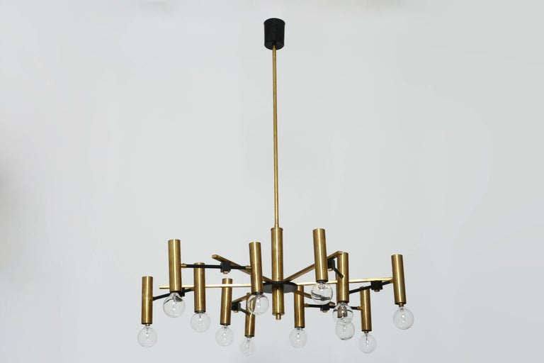 Enameled Torlasco Attributed Chandelier For Sale