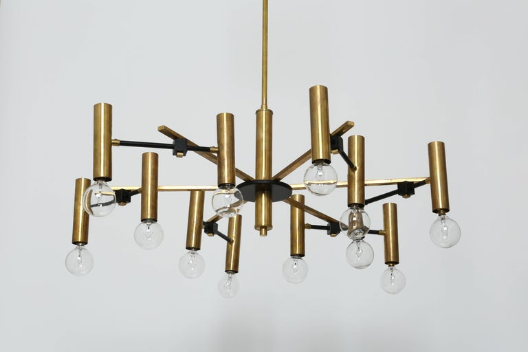 Torlasco Attributed Chandelier In Good Condition For Sale In New York, NY