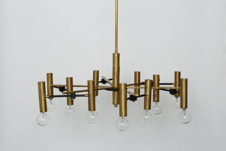 Mid-20th Century Torlasco Attributed Chandelier For Sale