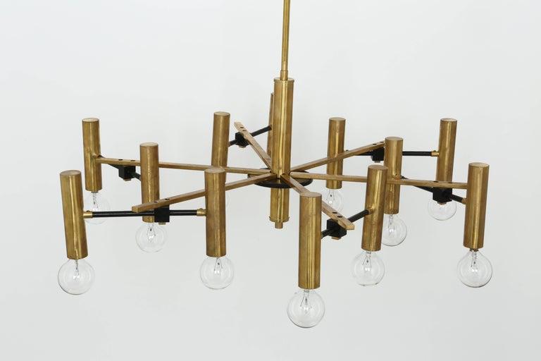 Brass Torlasco Attributed Chandelier For Sale