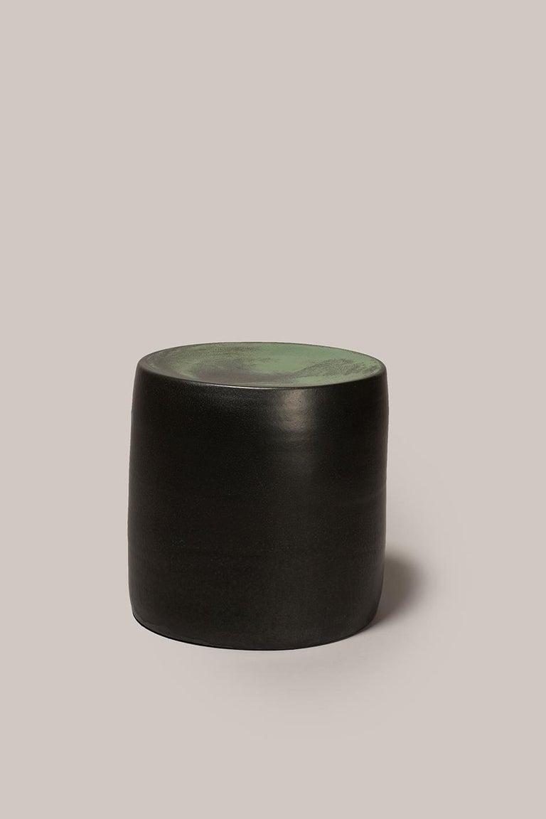 Spanish Torn Side Table LA Dark Green 639 For Sale