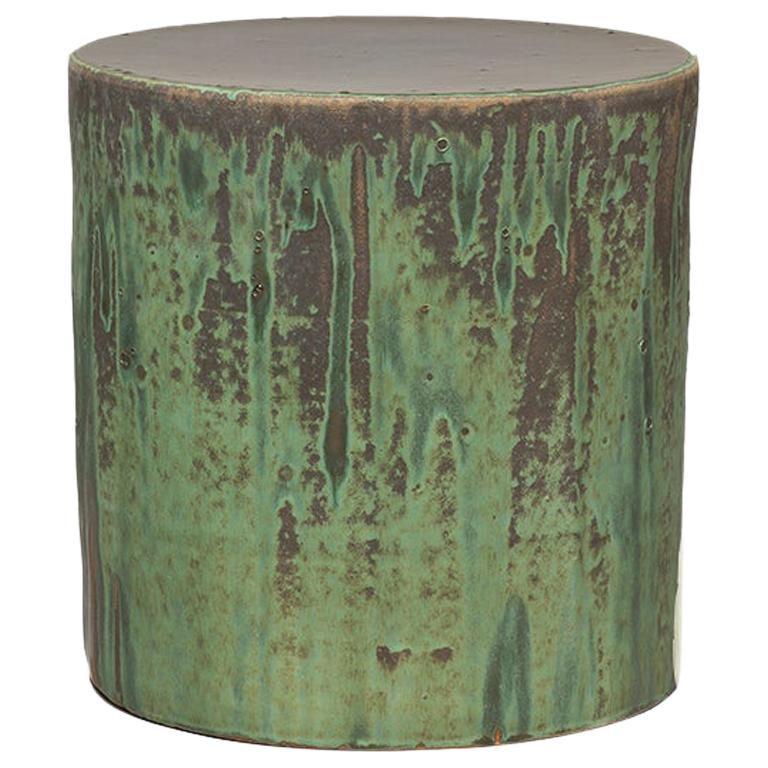 Torn Side Table LA Green Gray 640 For Sale