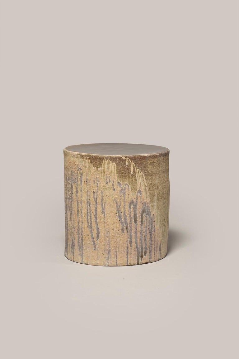 Hand-Crafted Torn Side Table LA Sand 642 For Sale