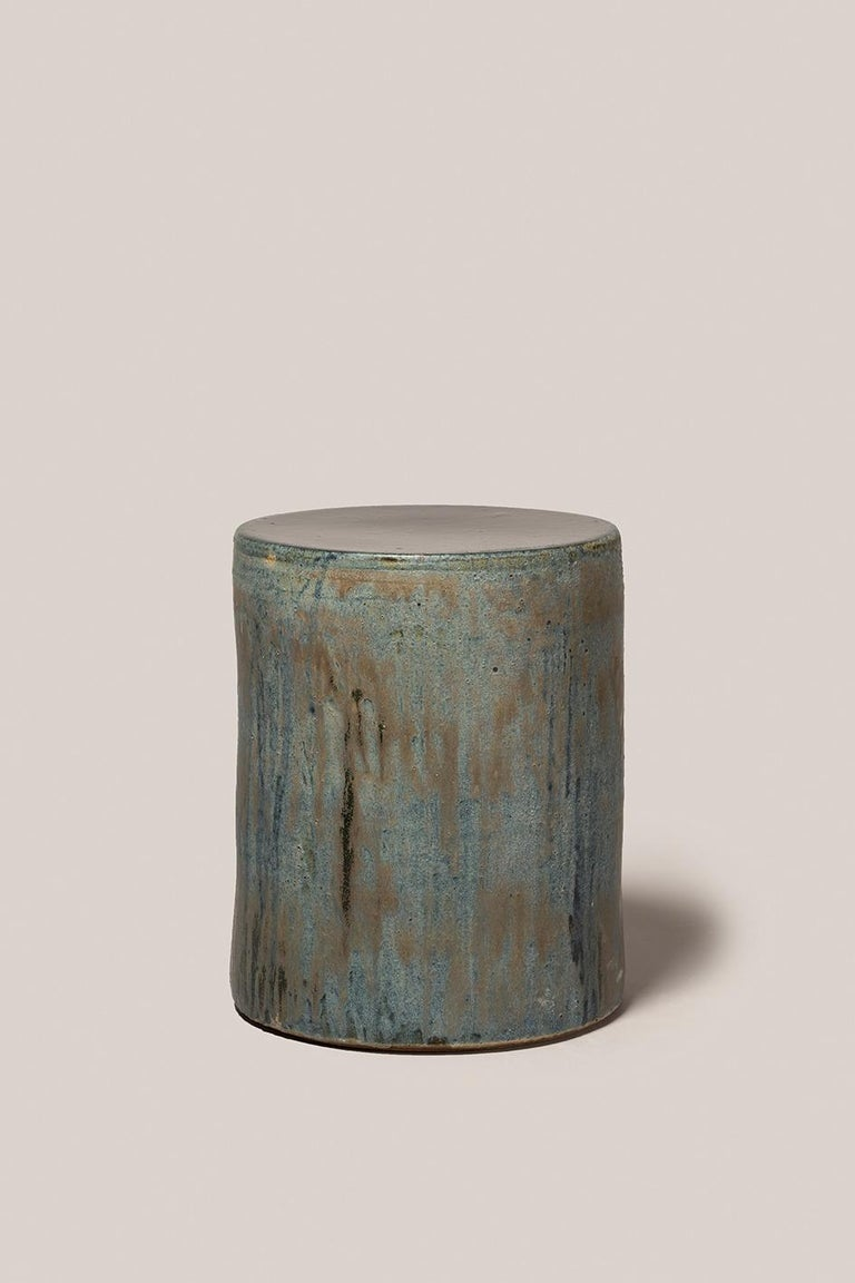 Spanish Torn Side Table LA Turquoise Gray 636 For Sale