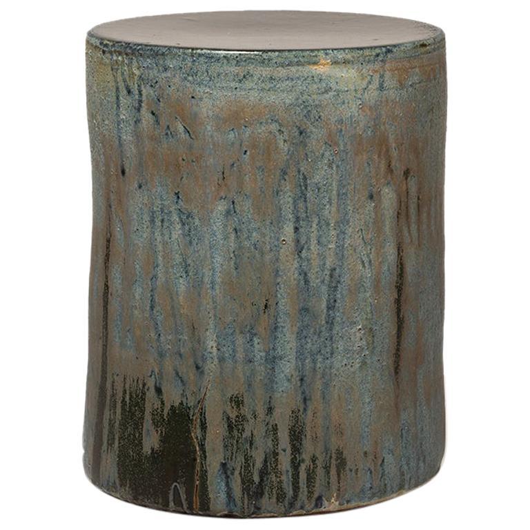 Torn Side Table LA Turquoise Gray 636 For Sale