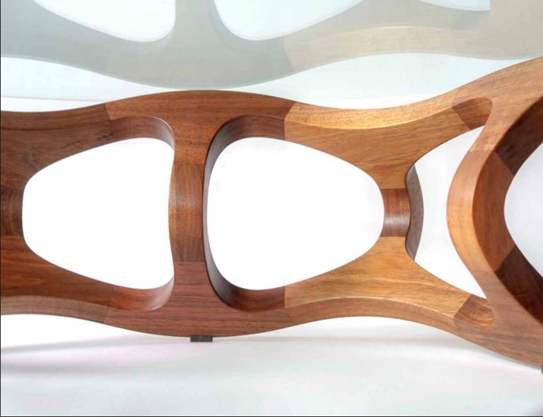 Mexican Contemporary Center Table in Tzalam Wood from Mexico For Sale