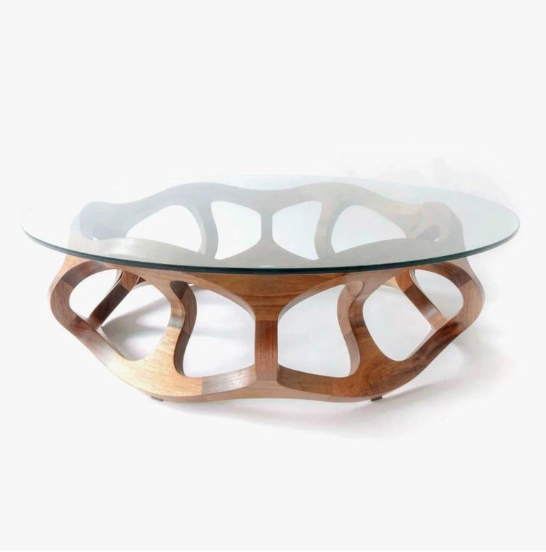 Contemporary Center Table in Tzalam Wood from Mexico For Sale 1