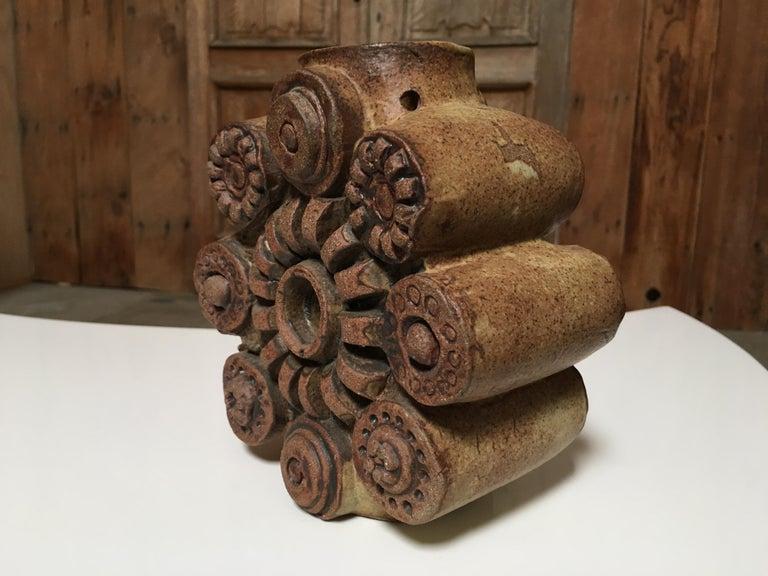 English Toroidal Vase by Bernard Rooke For Sale