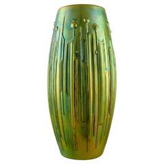 Török János for Zsolnay, Large Modernist Vase in Glazed Ceramics