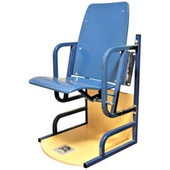 Toronto Maple Leafs from Maple Leaf Gardens Blue Vintage Arena Seat with COA