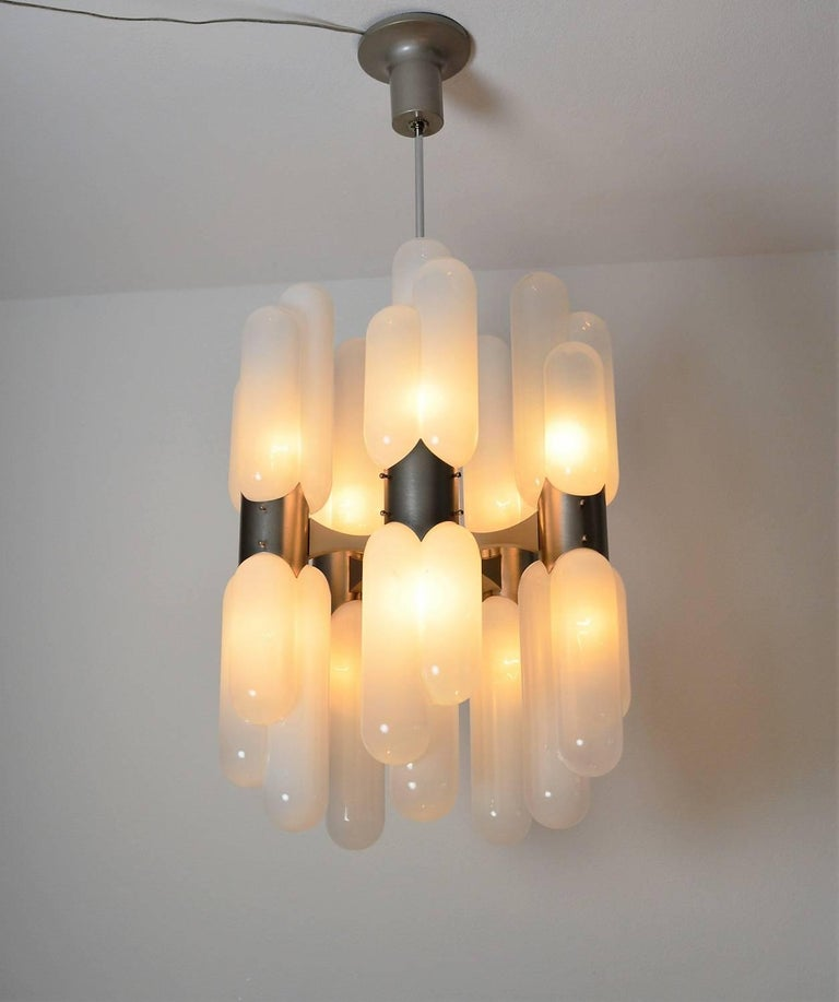 Torpedo Chandelier by Carlo Nason for Mazzega, 1960s For Sale 4