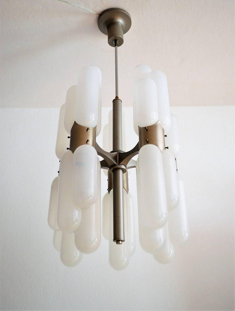 Mid-Century Modern Torpedo Chandelier by Carlo Nason for Mazzega, 1960s For Sale