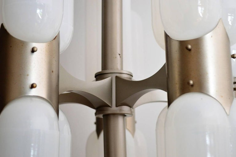 Torpedo Chandelier by Carlo Nason for Mazzega, 1960s In Excellent Condition For Sale In Clivio, Varese