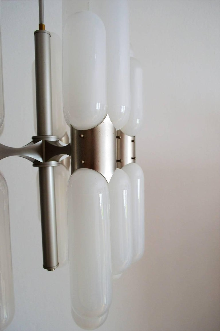 Mid-20th Century Torpedo Chandelier by Carlo Nason for Mazzega, 1960s For Sale