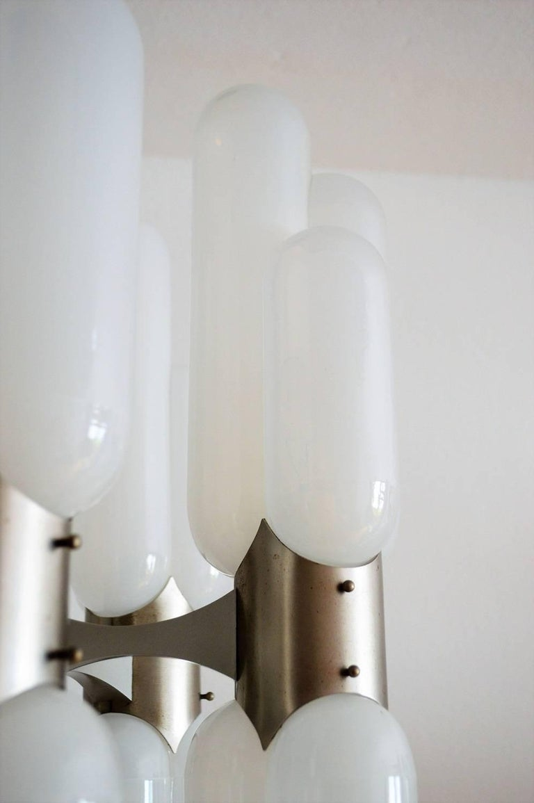 Torpedo Chandelier by Carlo Nason for Mazzega, 1960s For Sale 1