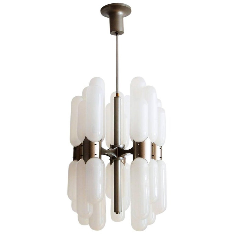 Torpedo Chandelier by Carlo Nason for Mazzega, 1960s For Sale