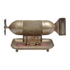 Torpedo Shaped Cigar Cutter & Match Holder, German, Early 20th Century