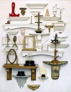 The Shelf Collector - Hold Me, Keep Me - Wooden shelves, antique vintage frames