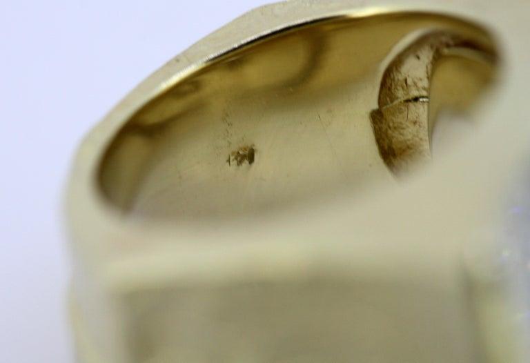 Torrini, 14 Karat Gold Forenze Bilbao Handmade Ring with Diamonds For Sale 8