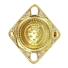 Torrini 18 Karat Gold and Diamond Coin Ring