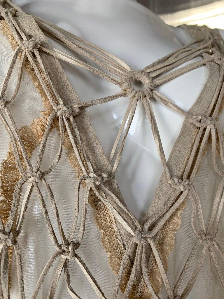 Torso Creations Macrame Leather Fringe
