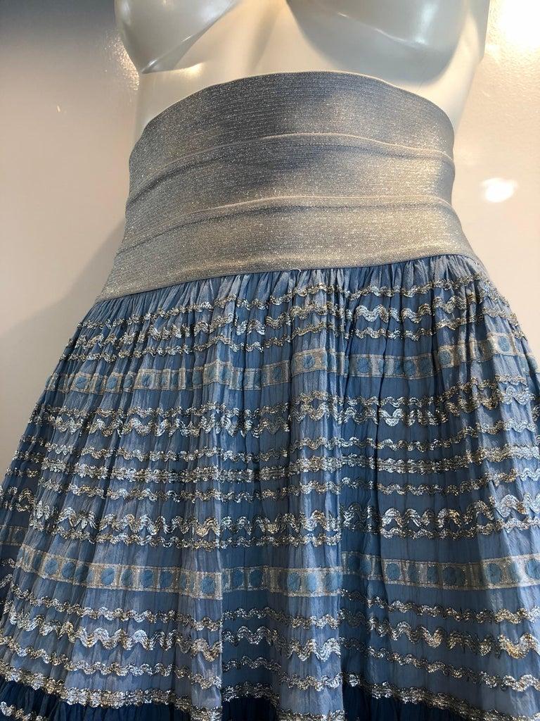 Women's Torso Creations Modified 1950s High Elastic Waist Metallic Braid Circle Skirt For Sale