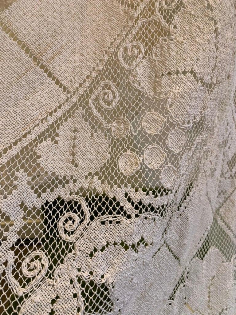 Torso Creations Summer Cotton Lace Dress W/ Daring Side Plunge & Bikini-Top For Sale 5
