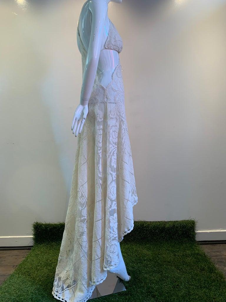 Torso Creations Summer Cotton Lace Dress W/ Daring Side Plunge & Bikini-Top For Sale 6