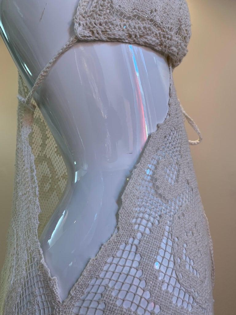 Torso Creations Summer Cotton Lace Dress W/ Daring Side Plunge & Bikini-Top For Sale 8