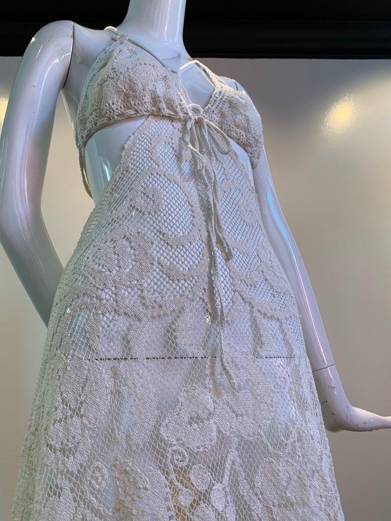 Torso Creations Summer Cotton Lace Dress W/ Daring Side Plunge & Bikini-Top For Sale 9