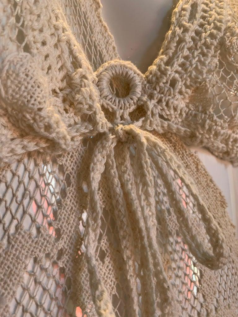 Torso Creations Summer Cotton Lace Dress W/ Daring Side Plunge & Bikini-Top For Sale 15