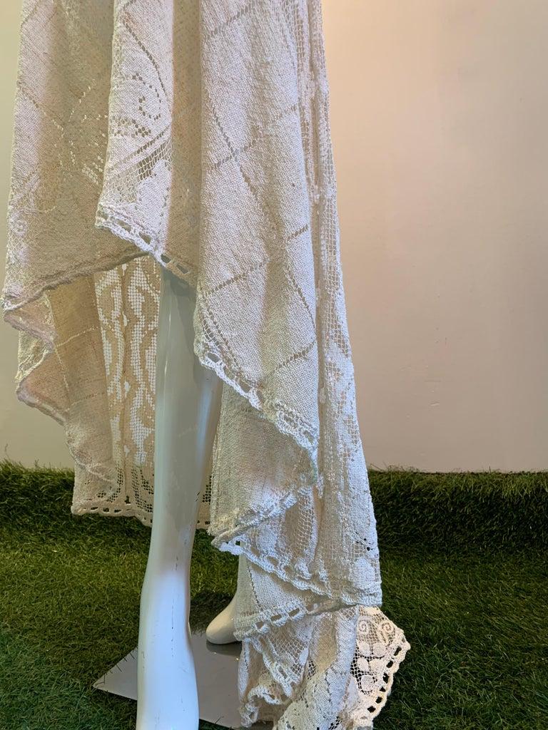 Women's Torso Creations Summer Cotton Lace Dress W/ Daring Side Plunge & Bikini-Top For Sale