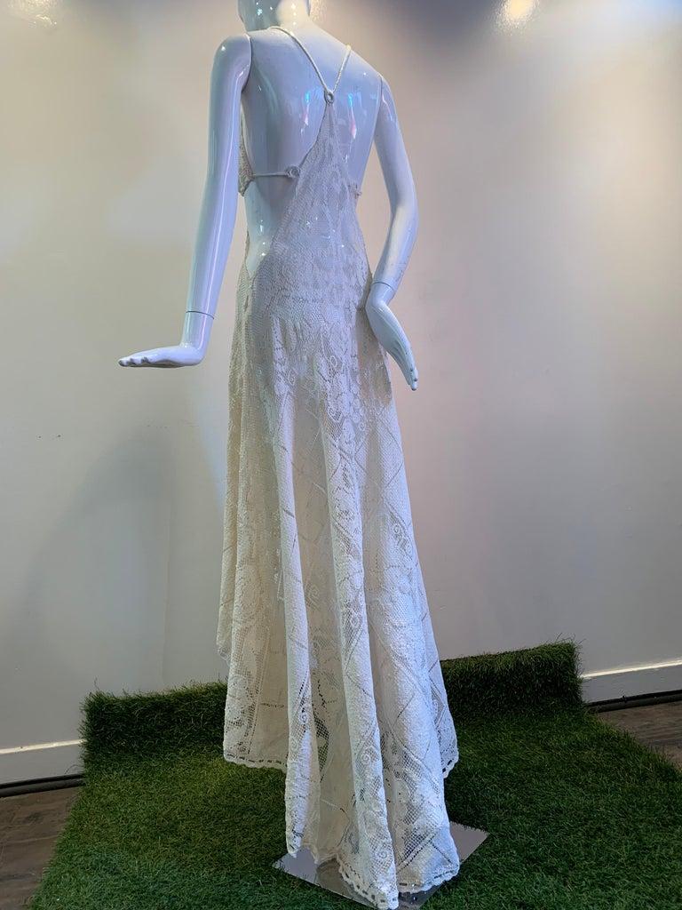 Torso Creations Summer Cotton Lace Dress W/ Daring Side Plunge & Bikini-Top For Sale 1