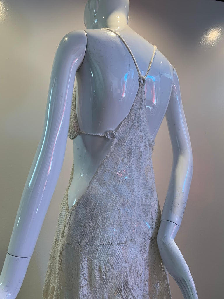 Torso Creations Summer Cotton Lace Dress W/ Daring Side Plunge & Bikini-Top For Sale 2