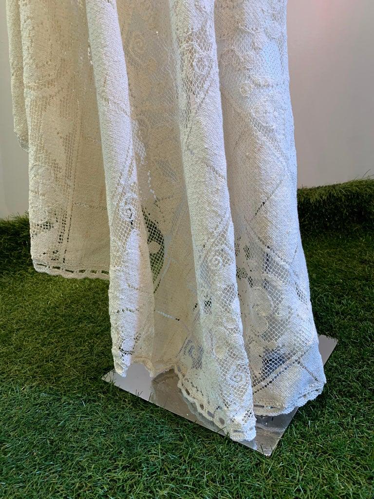 Torso Creations Summer Cotton Lace Dress W/ Daring Side Plunge & Bikini-Top For Sale 3
