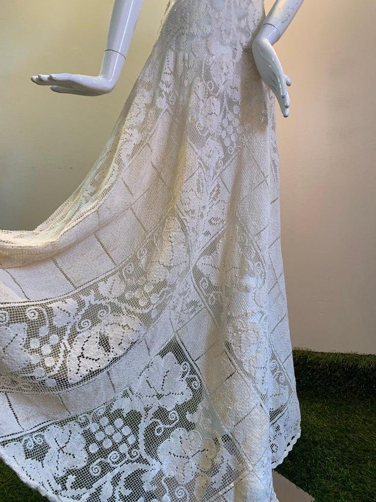 Torso Creations Summer Cotton Lace Dress W/ Daring Side Plunge & Bikini-Top For Sale 4