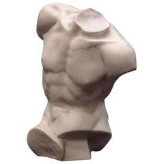 Torso of Apollo Marble Bust Sculpture, 20th Century