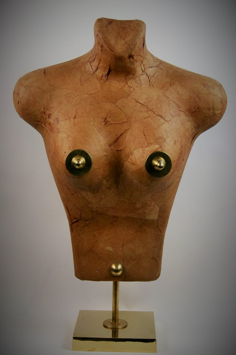 Torso Sculpture by Brunelli In Good Condition For Sale In Douglas Manor, NY